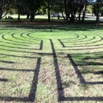 Labyrinth re-painted at Civic Park