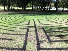 Civic Park labyrinth after rain