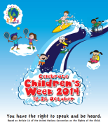 Childrens Week Poster Half Size