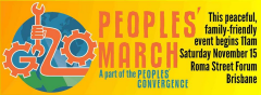 BrisCan Peoples March