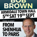 Bob Brown at Armidale Town Hall – Free Event
