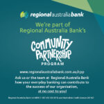 Community Partnership Program at our local Regional Australia Bank
